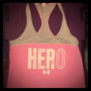 Under Armour Hero tank breast cancer